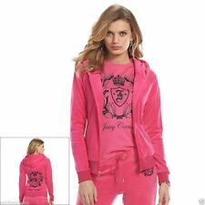 Juicy Couture Crest Embellished Velour Tracksuit or Pant Separates, Pink NWT