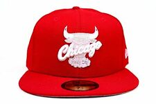 Chicago Bulls Scarlet Red Pink Air Jordan Retro 5s New Era 59Fifty Fitted Hat