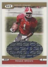 2005 SAGE Hit Autographs Gold A26 Reggie Brown Georgia Bulldogs Auto Rookie Card