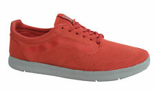 Vans Off The Wall Iso Textile Trainers Lace Up Coral Red Shoes VHHZU0 Vans F