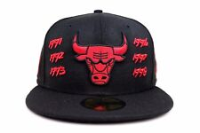 Chicago Bulls Black Scarlet Red Champs Team Archive New Era 59Fifty Fitted Hat