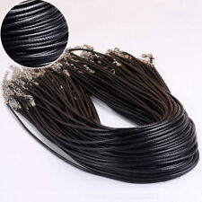 100Pcs Strands Fashion Necklace1.5MM Cord Waxed Nylon Cord With Lobster Clasp