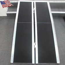 5' & 6' ft Aluminum Multifold Wheelchair Scooter Mobility Ramp portable