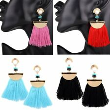 Women Lady Boho Vintage Resin Tassel Drop Dangle Earrings Fashion Jewelry Gift