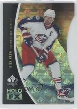 2010-11 SP Authentic Holo FX Die-Cut #FX5 Rick Nash Columbus Blue Jackets Card