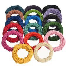 Lots 5M Real Leather Round Rope String Cord Necklace Jewelry Making DIY Crafts