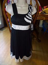 SEQUIN HEARTS GIRLS DRESS SIZE 12/14 SLEEVELESS BLACK NWT DRESSY WEDDING EASTER