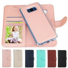 Flip Magnetic Leather+Rubber Removable Wallet Case Cover For Samsung Galaxy    S