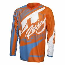 2017 JT Racing Flex Victory YOUTH MX Motocross Jersey - Orange / Cyan