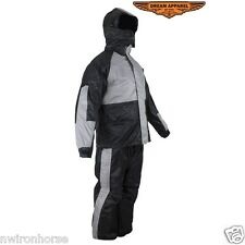 Motorcycle Rain Suit With Hood Sizes Small to 4XL New #SALE Unisex RS23-Hood