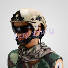 Airsoft Paintball Wargame IBH Helmet with NVG Mount & Side Rail Desert Tan