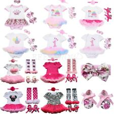 Baby Girl First 1st Birthday Outfit Tutu Skirt Dress Cake Bodysuit Party Clothes