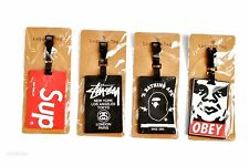 * Supreme Stussy A Bathing Ape Obey Luggage Tag Lanyard Travelling Bag ID Travel