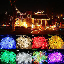 30M 50M LED Christmas Wedding Xmas Party Fairy String Lights Lamp Outdoor Decor