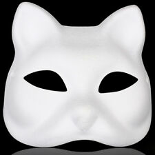 DIY Unpainted Mardi Gras Venetian White Blank Paper Pulp Costume Mask Animal US