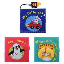 Infant Cloth Book Activity Catoon Animal Soft Baby Kid Early Development Toy