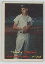 1957 Topps #108 Tommy Byrne New York Yankees Baseball Card