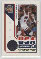 2009 Panini Basketball Hall of Fame Dream Team Game Threads 7 Patrick Ewing Card