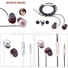 In-ear Corded Headphones Earbuds Heavy Bass Noise Cancelling Earphones with Mic