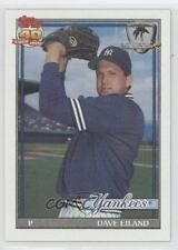 1991 Topps Operation Desert Shield #611 Dave Eiland New York Yankees Card