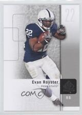 2011 SP Authentic #62 Evan Royster Penn State Nittany Lions RC Football Card