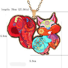 Sweater Chain Acrylic Long Pendant Cute Colorful 1 Pcs Women Squirrel Necklace