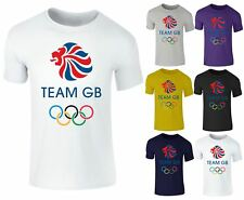 Men's Team GB Great Britian Olympics Rio London Cotton T shirt Top Small-XXL