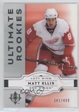 2007-08 Ultimate Collection #94 Matt Ellis Detroit Red Wings Rookie Hockey Card