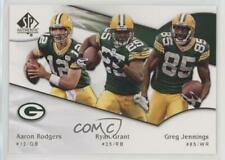 2009 SP Authentic #186 Greg Jennings Aaron Rodgers Ryan Grant Green Bay Packers