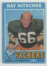 1971 Topps #133 Ray Nitschke Green Bay Packers Football Card
