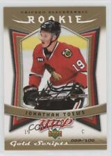 2007-08 Upper Deck MVP Gold Scripts #351 Jonathan Toews Chicago Blackhawks Card