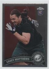2011 Topps Chrome 189 Casey Matthews Philadelphia Eagles RC Rookie Football Card