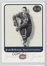 2001-02 Fleer Greats of the Game #3 Jean Beliveau Montreal Canadiens Hockey Card