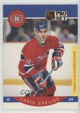 1990-91 Pro Set #147 Chris Chelios Montreal Canadiens Hockey Card