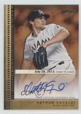2012 Topps Update Series Golden Debut Autographs GDA-NE Nathan Eovaldi Auto Card