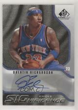 2009 SP Game Used #S-QR Quentin Richardson New York Knicks Auto Basketball Card