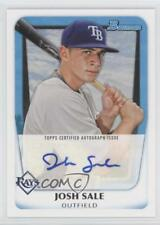 2011 Bowman Prospects Autograph BPA-JS Josh Sale Tampa Bay Rays Auto Rookie Card