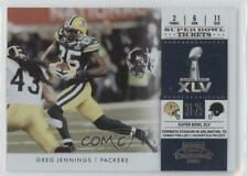 2011 Playoff Contenders Super Bowl Tickets #2 Greg Jennings Green Bay Packers