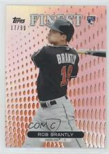 2013 Topps Finest Orange Refractor #56 Rob Brantly Miami Marlins Baseball Card