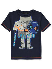 Boys Toddlers Kids Knight Graphic Print Short Sleeve T Shirt Top