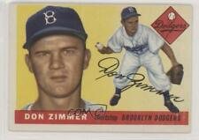 1955 Topps #92 Don Zimmer Brooklyn Dodgers RC Rookie Baseball Card