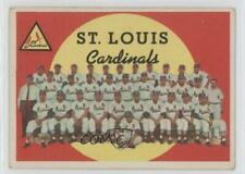 1959 Topps #223.2 St Louis Cardinals Team (White Back) St. Checklist Card
