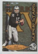 2002 Fleer Throwbacks Super Stars 4SS Jim Plunkett Oakland Raiders Football Card