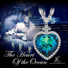 Heart of the Ocean Titanic Pendant Necklace Made with Swarovski Crystals