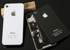 OEM iPHONE 4/4S BACK GLASS BATTERY PLATE AT&T VERIZON SPRINT WHITE Black A1387