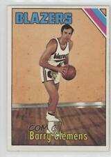 1975-76 Topps #22 Barry Clemens Portland Trail Blazers Basketball Card