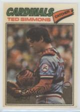 1977 Topps Baseball Patches Cloth Stickers #43 Ted Simmons St. Louis Cardinals