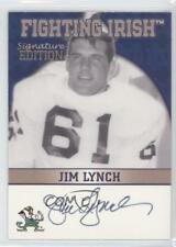 2003 2003-07 TK Legacy Notre Dame #FI35 Jim Lynch Fighting Irish Auto Card