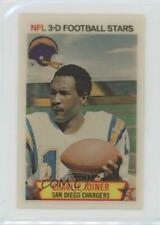 1980 Stop 'n Go NFL 3-D Football Stars 19 Charlie Joiner San Diego Chargers Card