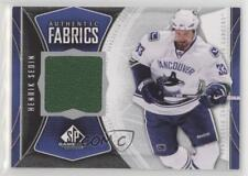 2009 SP Game Used Edition Authentic Fabrics AF-HS Henrik Sedin Vancouver Canucks